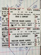 Dead And Co. Tickets Msg. October 31plat Row 4 And Nov 1 Row 6vip.