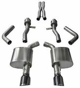 Corsa Sport Catback Exhaust W/black Tips For 2015-2021 Dodge Charger 6.2l And 6.4l