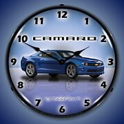 G5 Camaro Wall Clock Led Lighted Imperial Blue