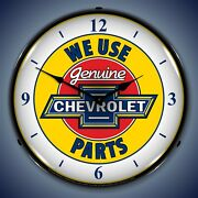 Chevy Parts With Numbers Wall Clock, Led Lighted