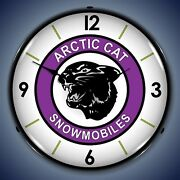Arctic Cat Snowmobiles Wall Clock Led Lighted
