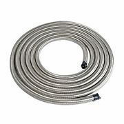 6an Fuel Oil Gas Air Water Hose Line An6 An-6 Stainless Steel Braided Silver