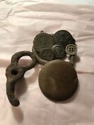 Vintage Civil War Era Military Buttons And Antiques