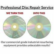 700 Game Disc Repair Service -resurface Ps1 Ps2 Ps3 Ps4 Xbox 360 Cube Wii Cd Dvd
