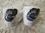 Laurie Gates Anna Bloom Coffee Cups 2 Cups