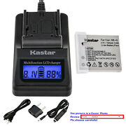 Kastar Battery Lcd Fast Charger For Canon Nb-4l 4lh And Digital Ixus 110 Is Camera
