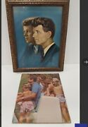 Kennedy Family Portrait And Book Jfk Rfk Rare Finds