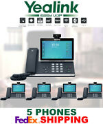 5 Yealink Sip-t58v Smart Video/media Ip Phones Wifi Bluetooth Android