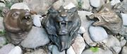 Architectural Hunting Trophies Tryptique Bronze Ornements Bear Lion And Wild Boar