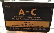 Antique A-c Model Company Mwx - 2 Bunk Car Model New Old Stock Train Hobby