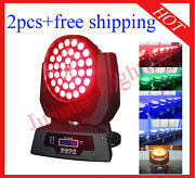 3618w Rgbwap 6 In 1 Led Moving Head Zoom Moving Head Wash 2pcs With Case