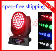 3618w Rgbwap 6 In 1 Led Moving Head Zoom Moving Head Wash 4pcs With Case