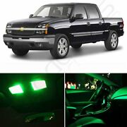 Green Car Led Lights Interior Package Kit For Chevy Silverado 99-06 Bulb
