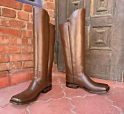 Brown Leather Officer Boots Menand039s Size 11ee Civil War Reenactment Caboots