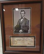 Abraham Lincoln Photo And Bank Note This Is Rare Please Read Item Info Thanks