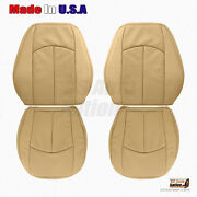 Front Bottoms-tops Leather Perforated Cover 2004-2009 Mercedes Benz E Series Tan