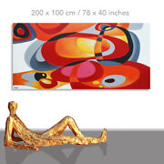Abstract Paintings Modern Art Wall Hand Painted Canvas Decor Retro I 78 X 40