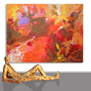 Abstract Paintings Modern Art Wall Hand Painted Canvas Decor Rouge 78 X 55