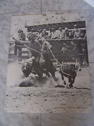 Vintage 1976 Ernie Taylor Photo By Dusty Allison Rodeo Print Poster 16 X 20.5