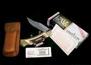 Schrade Lb8 Lockback Knife And Sheath Uncle Henry 5 Closed Usa W/packaging,papers