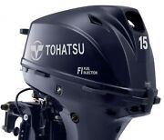 New Tohatsu 15hp 4 Stroke Outboard Electric Start Remote Control Long Shaft