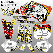 Yamaha Yz 125 250 1996-2001 Russian Roulette Motocross Decals Set Mx Graphics