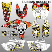 Yamaha Yzf 250 2010-2012 Russian Roulette Motocross Race Decals Set Mx Graphics