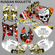 Yamaha Yzf 250 400 426 1998-2002 Russian Roulette Motocross Decals Mx Graphics