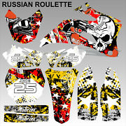 Yamaha Yzf 250 450 2009 Russian Roulette Motocross Decals Set Mx Graphics Kit