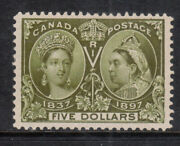 Canada 65 Extra Fine Mint Very Lightly Hinged With Certificate