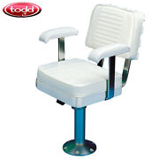 Todd Gloucester White Captains Seat Chair W/ Cushions And Slider Package 1500-01d