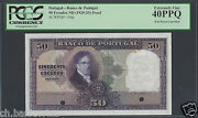 Portugal 50 Escudos Nd 1929-33 P144p Specimen Proof Extremely Fine
