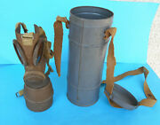 Ww2 - Gas Mask - 1938. French Military Gas Mask In Original Tin Box Excellent