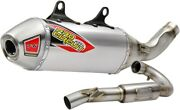 Pro Circuit T-6 Stainless Exhaust With Spark Arrestor Ktm 250sxf Fits 2019-2021