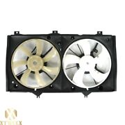Radiator Dual Cooling Fan Assembly Replacement For 07-11 Toyota Camry Hybrid