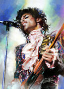 Singer Portrait Giclee Canvas From Haiyan Painting