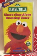 Sesame Street - Elmoand039s Sing- A-long - Guessing Game Elmocize Vhs Video Tape Tblo