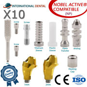 10 Angulated Multi Unit 17° Abutment Np For Nobel Biocare Active Hex Kit