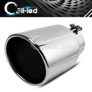 Truck Stainless Steel Bolt-on Exhaust Tip Tail Pipe 4 Inlet 6 Outlet 12 Long