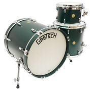 Gretsch 3pc Broadkaster Drum Kit 18x20 9x12 And 16x16 Toms Satin Cadillac Green
