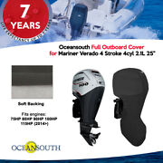 Oceansouth Outboard Full Storage Cover For Mariner 4cyl 2.1l 75hp-115hp 25 Leg