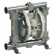 Double Diaphragm Pump By Fluimac -pf160- Food Grade-316 Ss Body-1.5 Clamp-45gpm