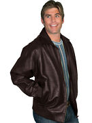 Scully Leather Mens A2 Bomber Lamb Jacket Zip Front 243