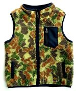 Baby Gap Boys Vest Jacket Gilet Camo Soldier Military Shearling Boy 12 18 24 Andpound19