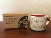 Starbucks Coffee You Are Here Collection Christmas Ornament Florida New 2014