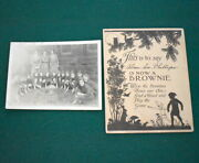 Early Girl Scout - Unique 1932 Brownie Pack Photo And Membership Certificate