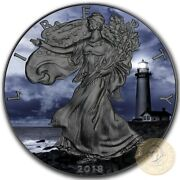 Usa Pigeon Point American Silver Eagle 2018 Walking Liberty 1 Dollar Coin 1 Oz