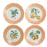 Summer Fruit By Mottahedeh Set Of 6  8 Each Salmon Color Portugal 86-89
