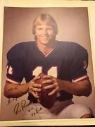 N.y Giants 11 Phil Simms Signed Autographed Professional 8x10 1980's Picture