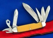Vintage 1930and039s Kabar Seven 7 Blade Knife / Tool
